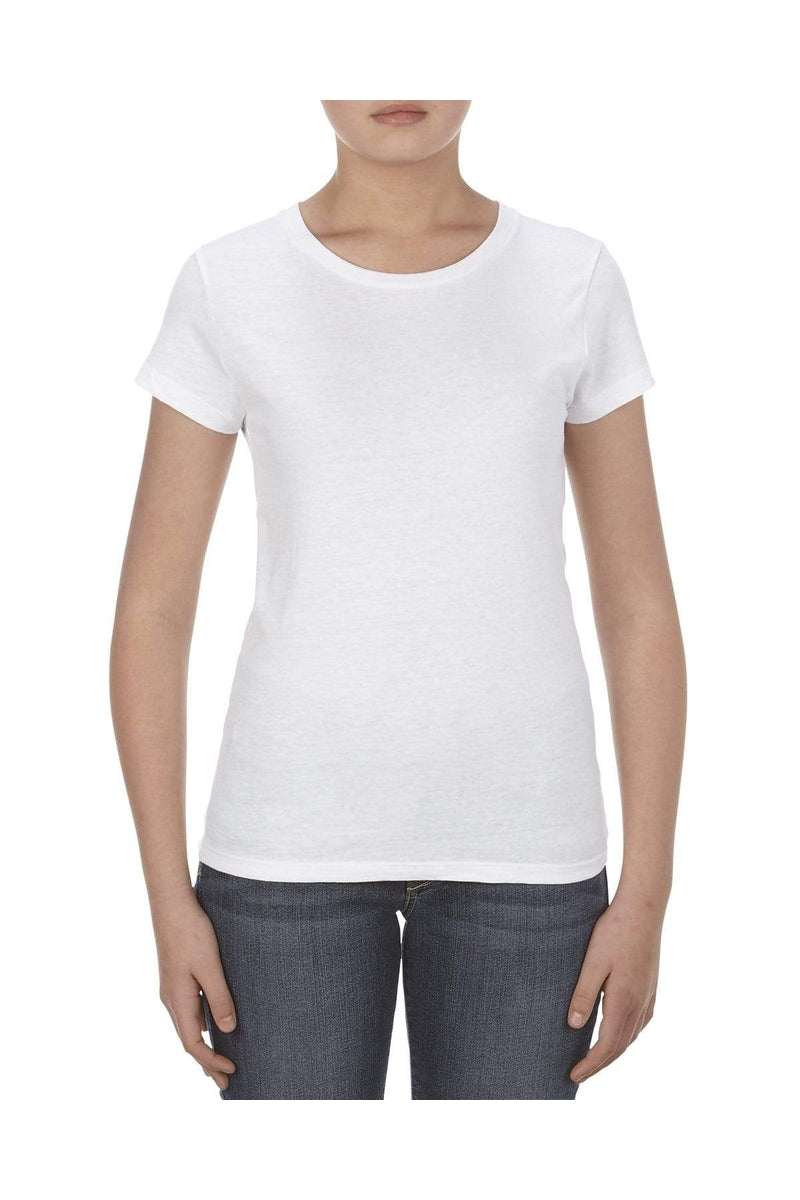 Alstyle AL2562: Missy 4.3 oz., Ringspun Cotton T-Shirt-T-Shirts-wholesale apparel