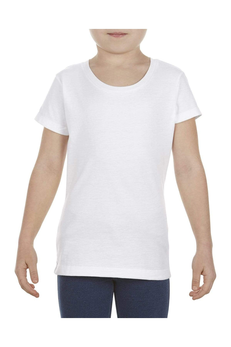Alstyle AL3362: Girls' 4.3 oz., Ringspun Cotton T-Shirt-T-Shirts-wholesale apparel