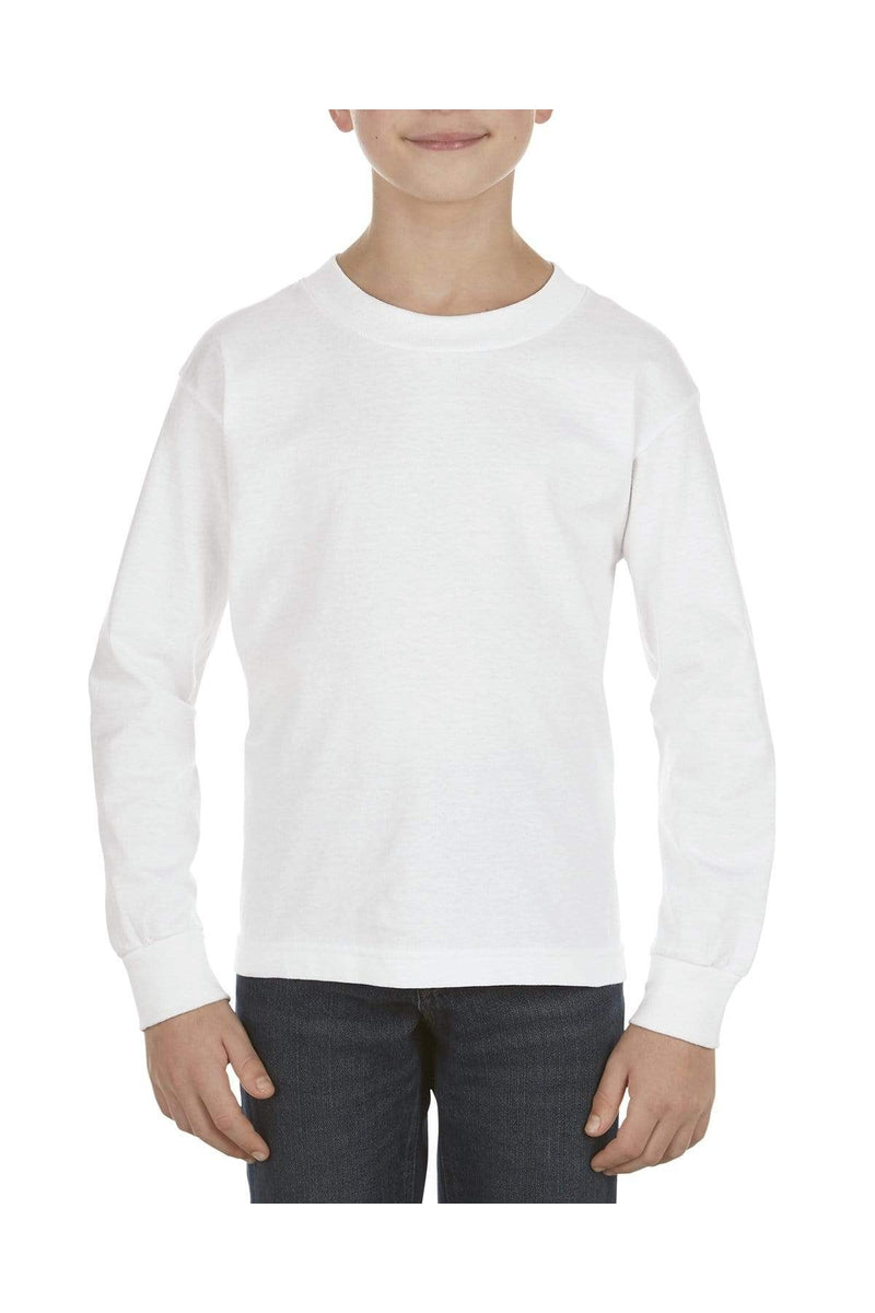 Alstyle AL3384: Youth 6.0 oz., 100% Cotton Long-Sleeve T-Shirt-T-Shirts-wholesale apparel