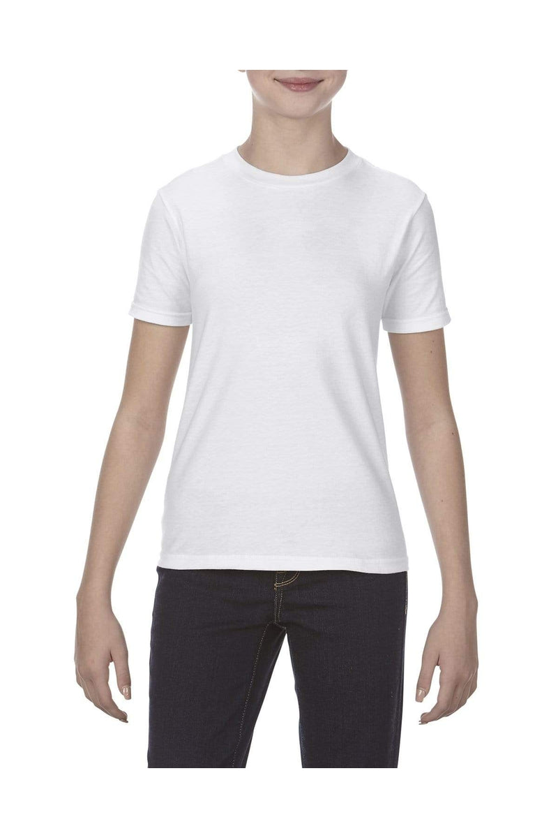 Alstyle AL5081: Youth 4.3 oz., Ringspun Cotton T-Shirt-T-Shirts-wholesale apparel