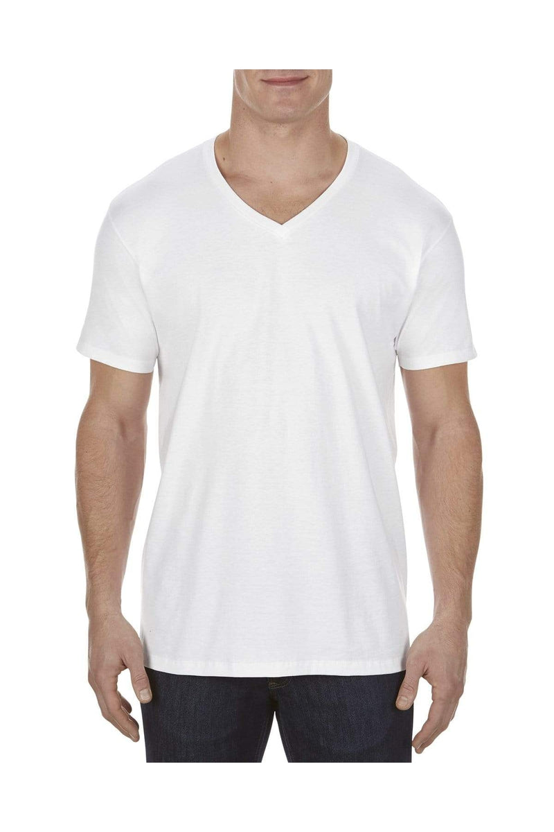 Alstyle AL5300: Adult 4.3 oz., Ringspun Cotton V-Neck T-Shirt-T-Shirts-wholesale apparel