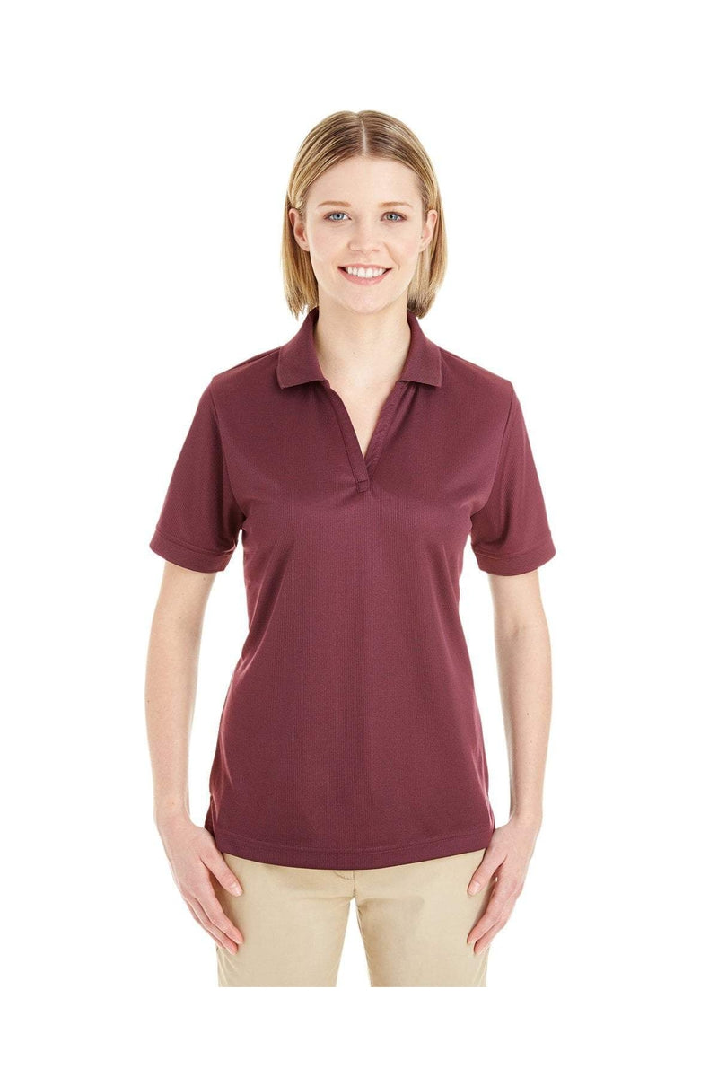 Ash City - Core 365 CE100W: Ladies' Pilot Textured Ottoman Polo-Polos-Bulkthreads.com, Wholesale T-Shirts and Tanks