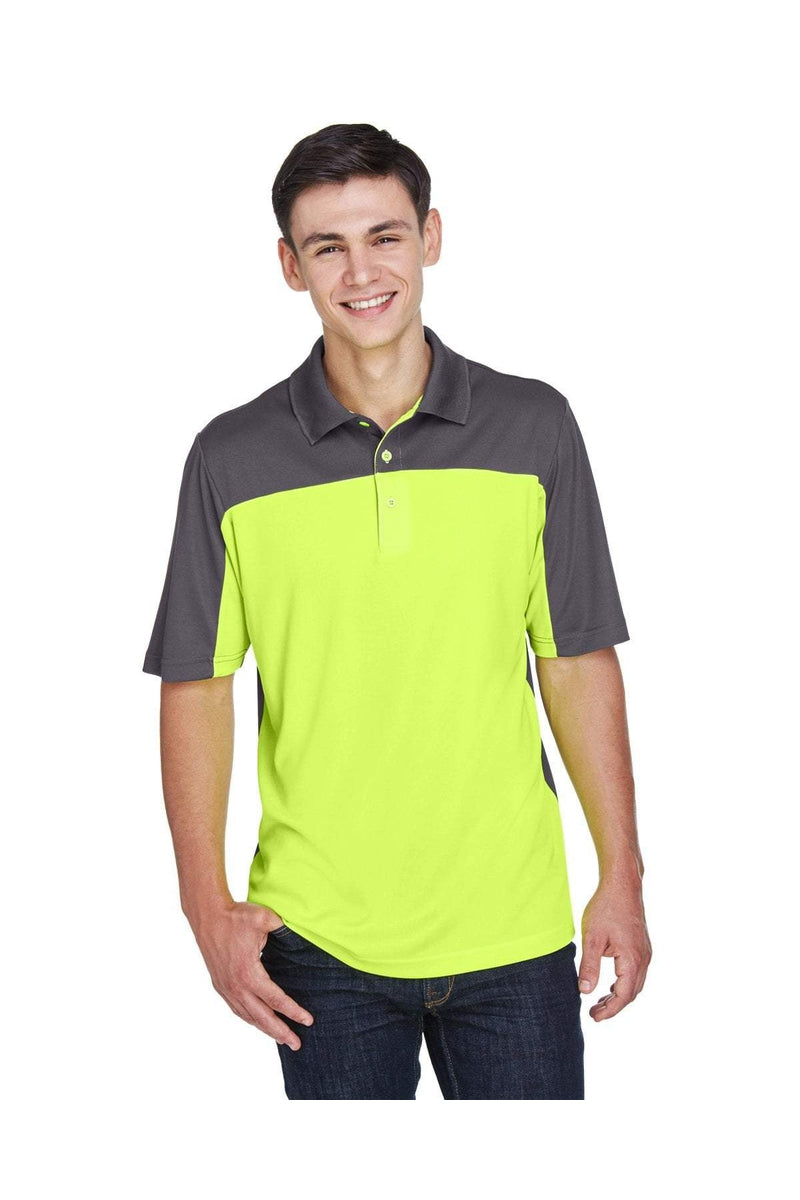 Ash City - Core 365 CE101: Men's Balance Colorblock Performance Pique Polo-Polos-Bulkthreads.com, Wholesale T-Shirts and Tanks