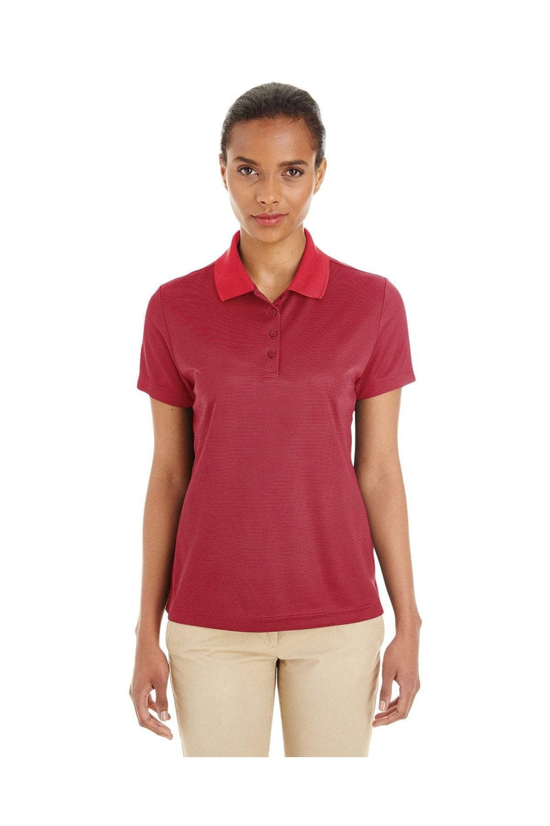 Ash City - Core 365 CE102W: Ladies' Express Microstripe Performance Pique Polo-Polos-Bulkthreads.com, Wholesale T-Shirts and Tanks