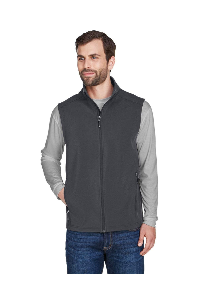 Ash City - Core 365 CE701: Men's Cruise Two-Layer Fleece Bonded Soft Shell Vest-Outerwear-Bulkthreads.com, Wholesale T-Shirts and Tanks