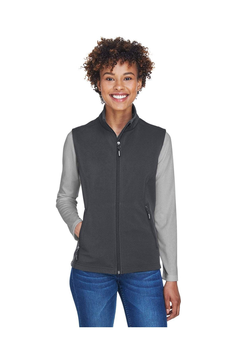 Ash City - Core 365 CE701W: Ladies' Cruise Two-Layer Fleece Bonded Soft Shell Vest-Outerwear-Bulkthreads.com, Wholesale T-Shirts and Tanks