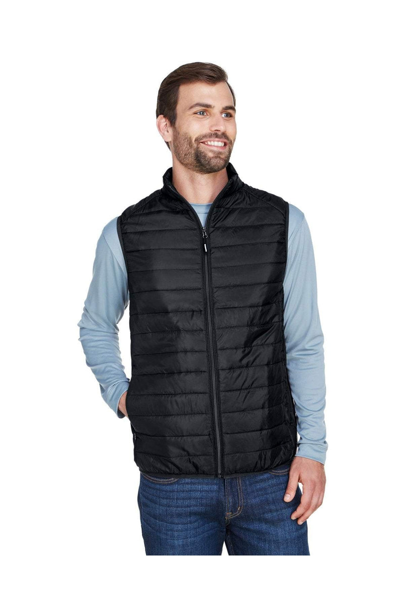 Ash City - Core 365 CE702: Men's Prevail Packable Puffer Vest-Outerwear-Bulkthreads.com, Wholesale T-Shirts and Tanks