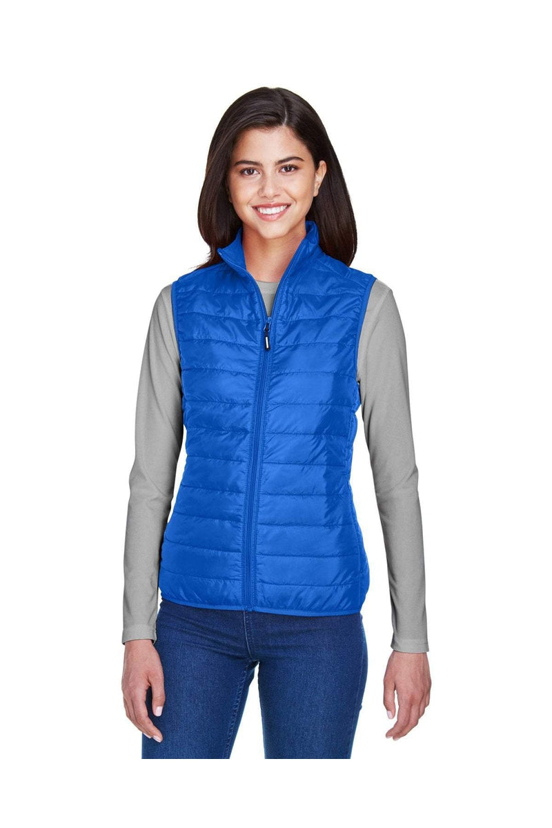 Ash City - Core 365 CE702W: Ladies' Prevail Packable Puffer Vest-Outerwear-Bulkthreads.com, Wholesale T-Shirts and Tanks