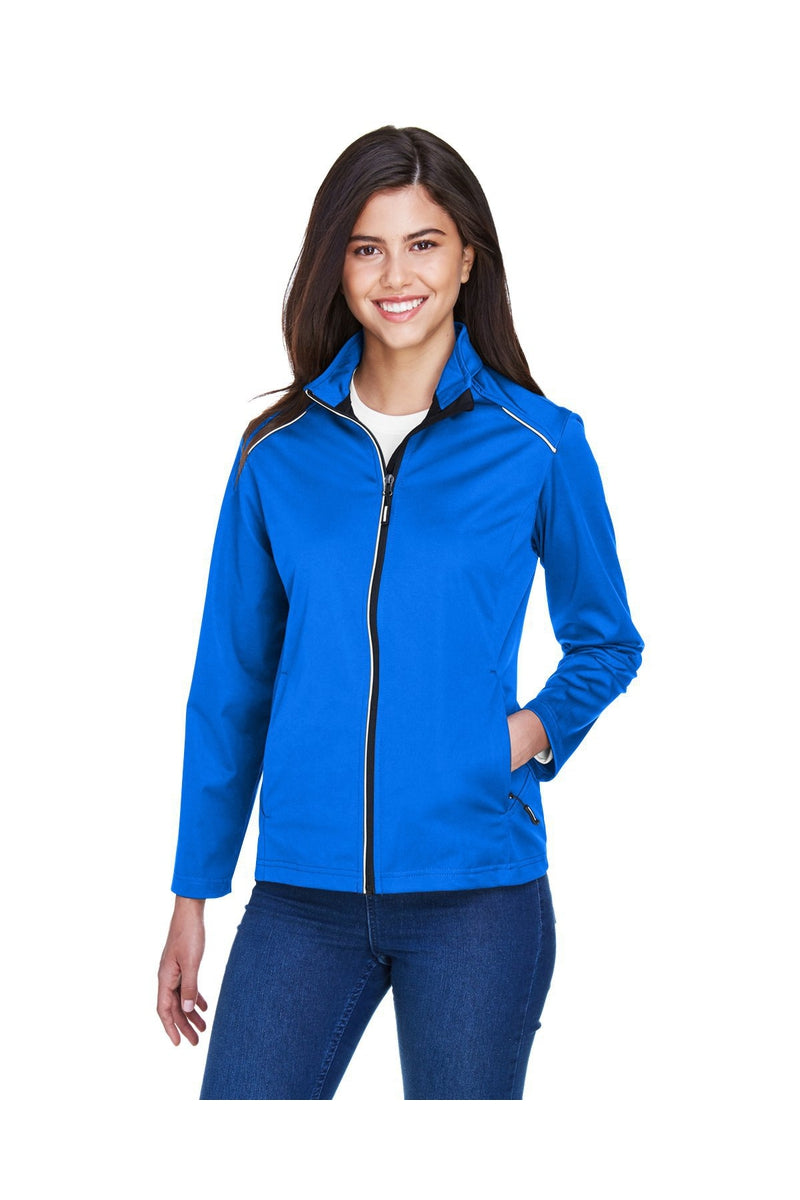 Ash City - Core 365 CE708W: Ladies' Techno Lite Three-Layer Knit Tech-Shell-Outerwear-Bulkthreads.com, Wholesale T-Shirts and Tanks