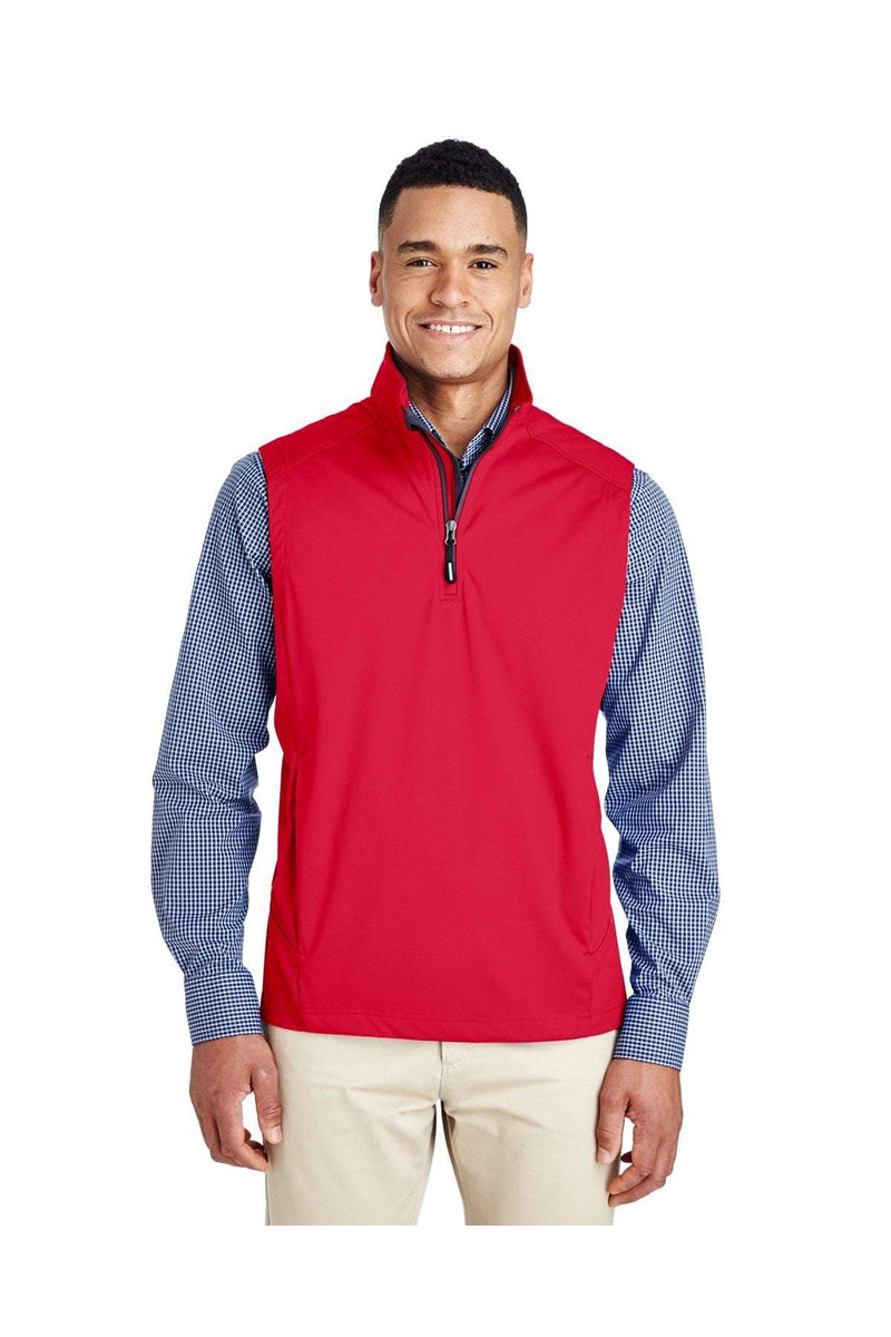 Ash City - Core 365 CE709: Men's Techno Lite Three-Layer Knit Tech-Shell Quarter-Zip Vest-Outerwear-Bulkthreads.com, Wholesale T-Shirts and Tanks