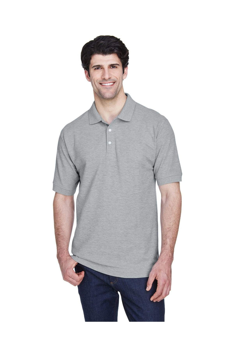 Devon & Jones D100: Men's Pima Pique Short-Sleeve Polo, Basic Colors-Polos-Bulkthreads.com, Wholesale T-Shirts and Tanks