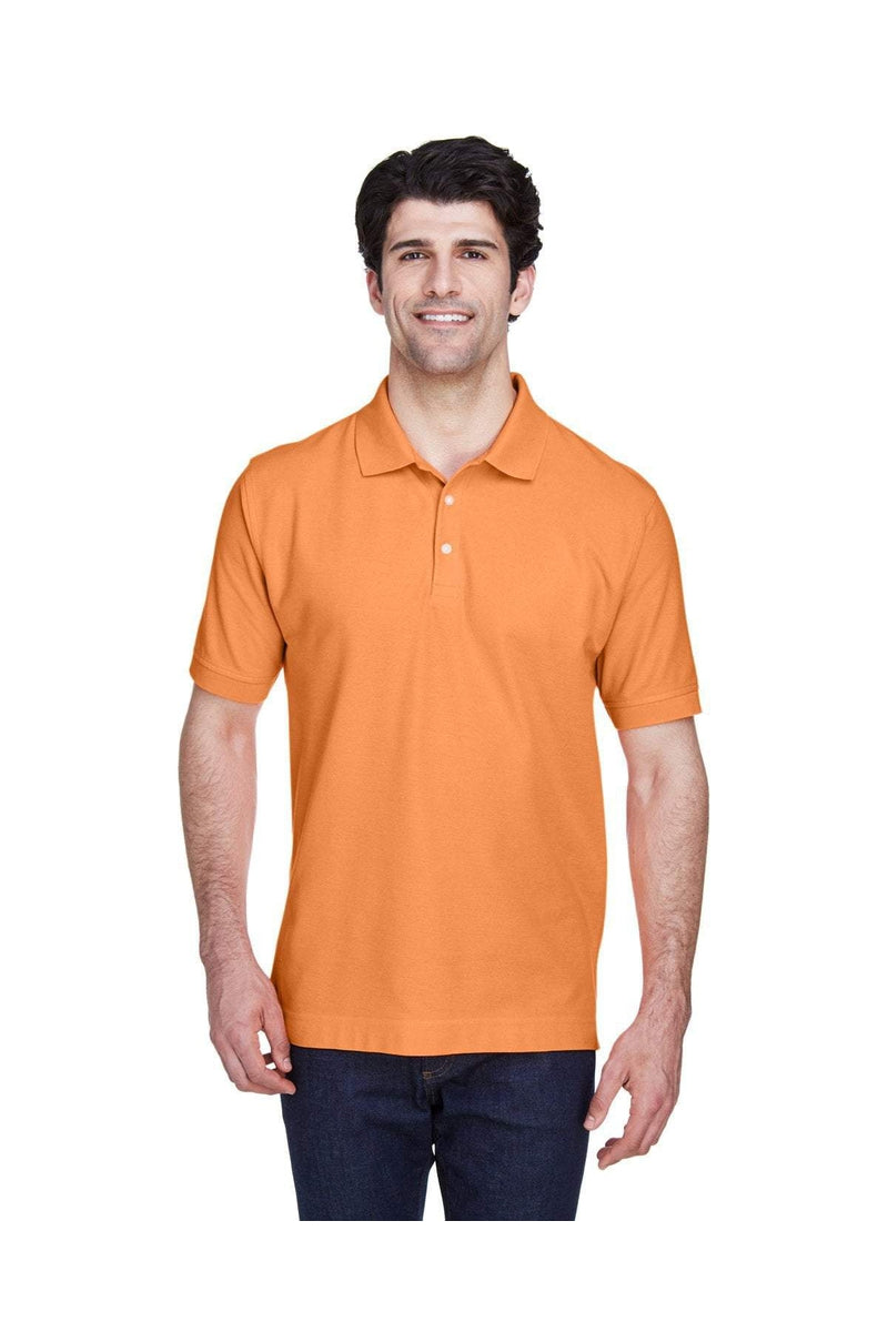 Devon & Jones D100: Men's Pima Pique Short-Sleeve Polo, Traditional Colors-Polos-Bulkthreads.com, Wholesale T-Shirts and Tanks