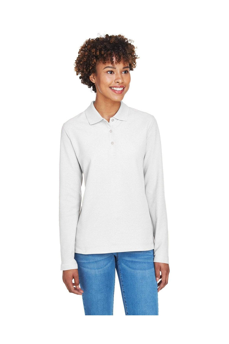 Devon & Jones D110W: Ladies' Pima Pique Long-Sleeve Polo