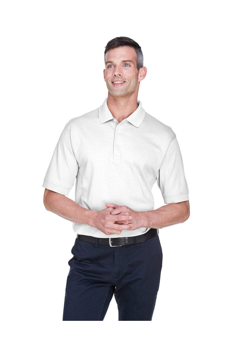 Devon & Jones D140S: Men's Solid Perfect Pima Interlock Polo