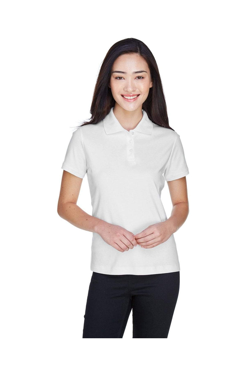 Devon & Jones D140SW: Ladies' Solid Perfect Pima Interlock Polo