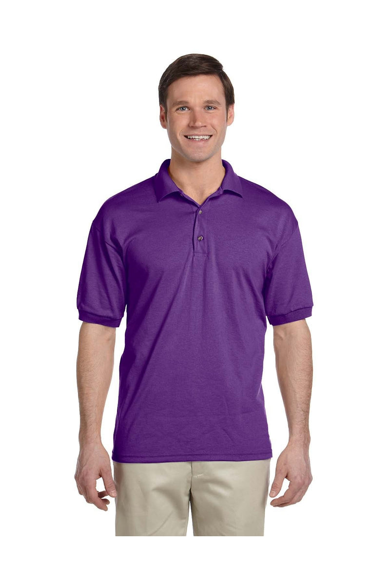 Gildan G880: Adult 6 oz. 50/50 Jersey Polo, Traditional Colors-Polos-Bulkthreads.com, Wholesale T-Shirts and Tanks