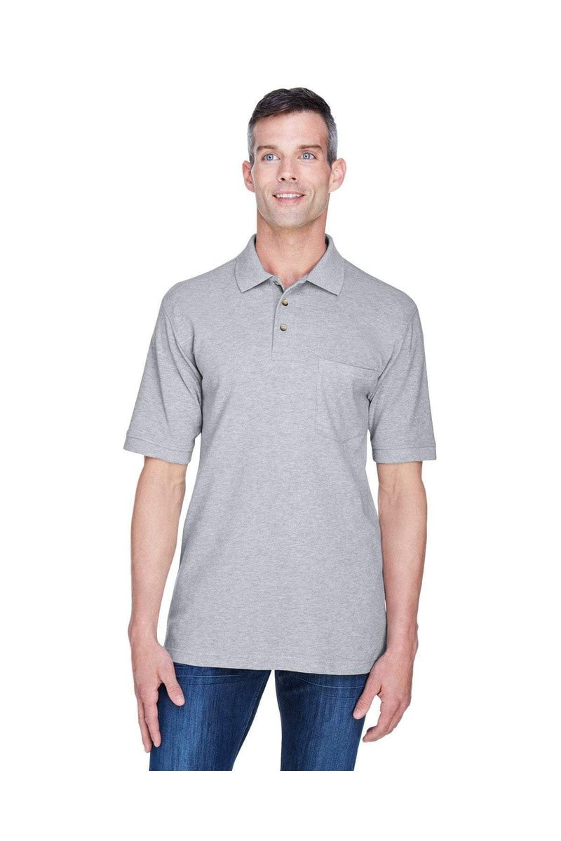 Harriton M200P: Adult 6 oz. Ringspun Cotton Pique Short-Sleeve Pocket Polo-Polos-Bulkthreads.com, Wholesale T-Shirts and Tanks
