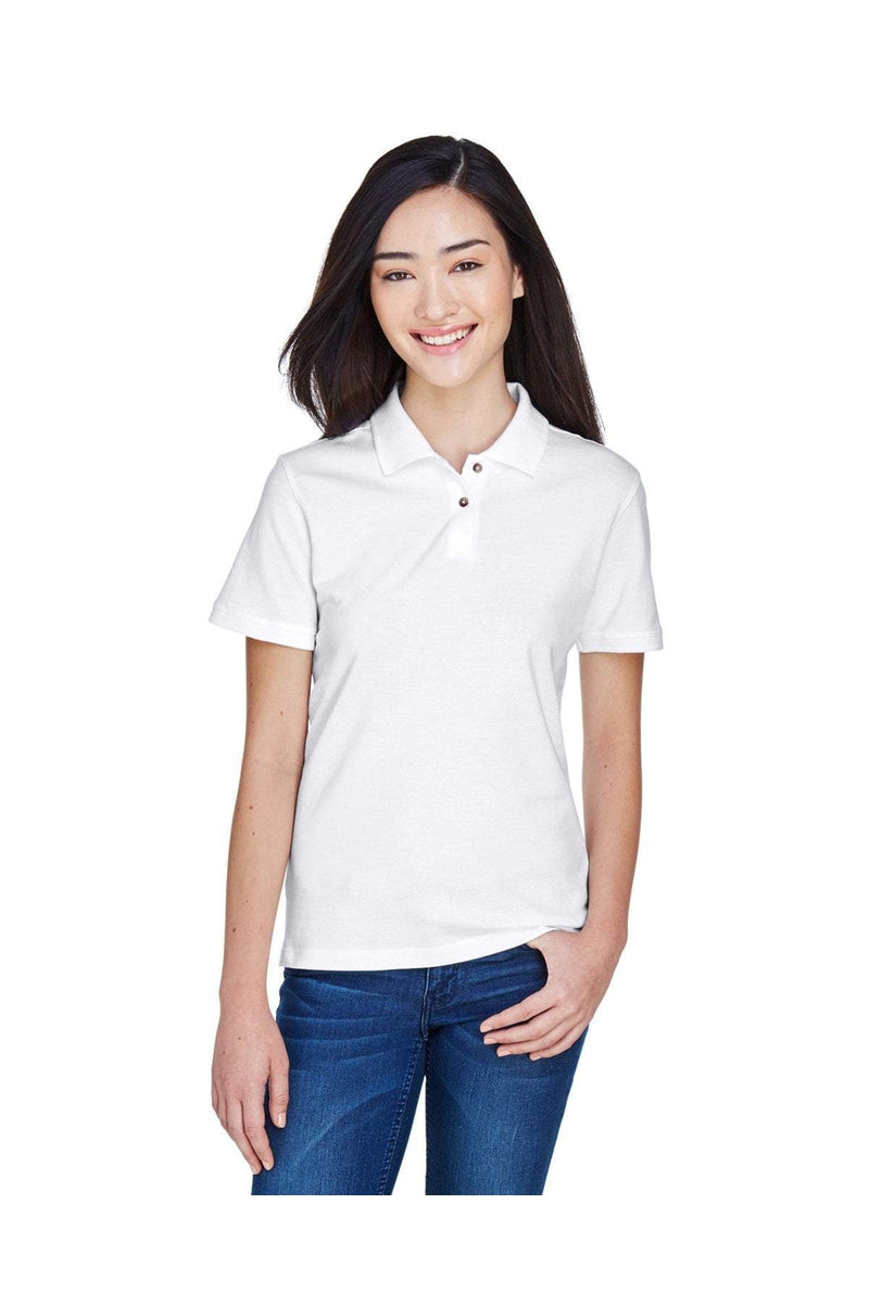 Harriton M200W: Ladies' 6 oz. Ringspun Cotton Pique Short-Sleeve Polo-Polos-Bulkthreads.com, Wholesale T-Shirts and Tanks
