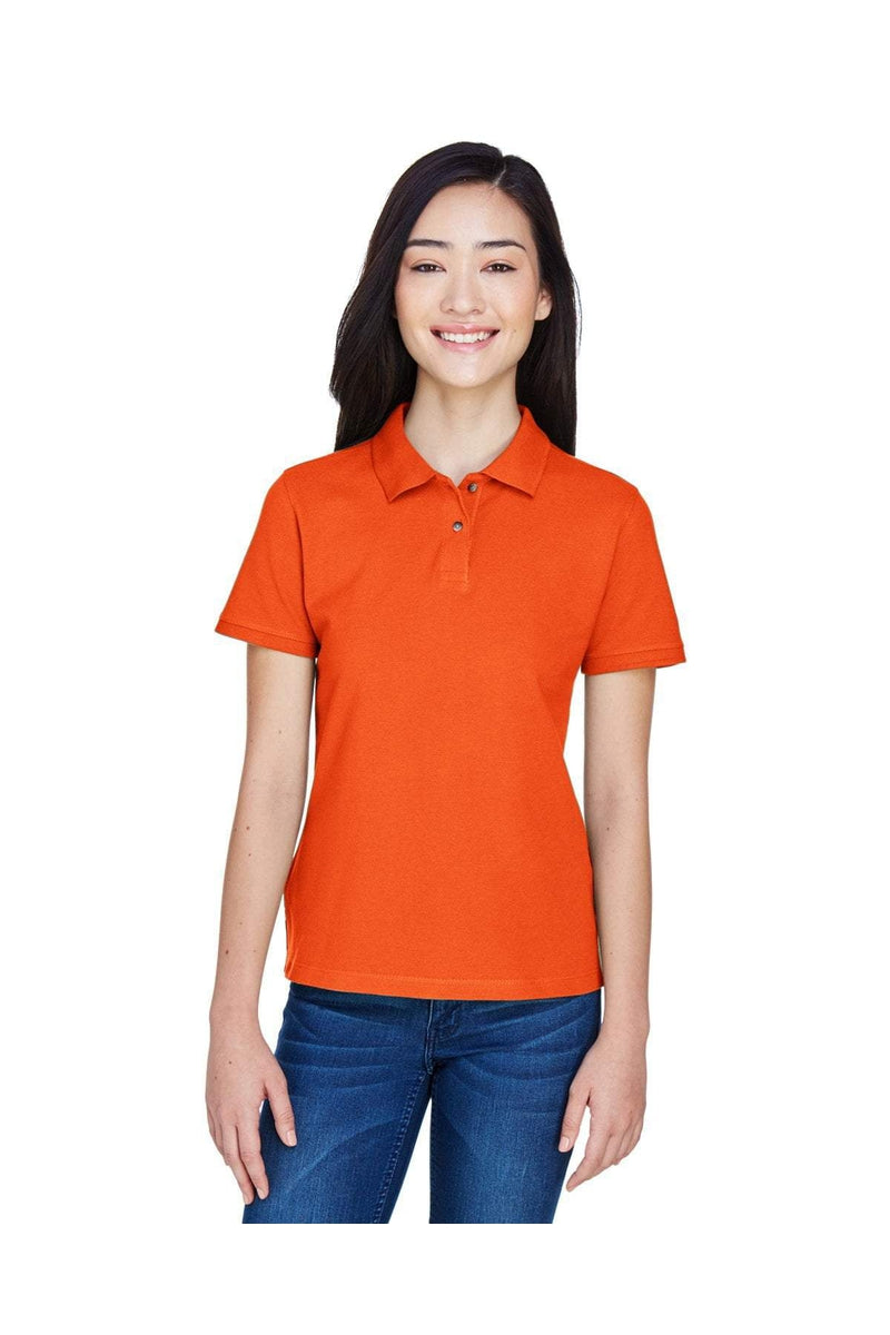 Harriton M200W: Ladies' 6 oz. Ringspun Cotton Pique Short-Sleeve Polo, Basic Colors-Polos-Bulkthreads.com, Wholesale T-Shirts and Tanks