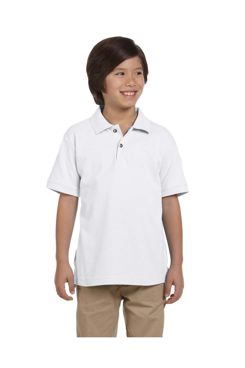 Harriton M200Y: Youth 6 oz. Ringspun Cotton Pique Short-Sleeve Polo-Polos-Bulkthreads.com, Wholesale T-Shirts and Tanks