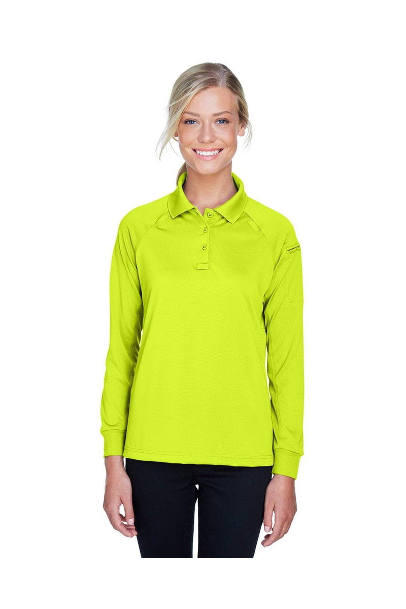 Harriton M211LW: Ladies' Tactical Long-Sleeve Performance Polo-Polos-Bulkthreads.com, Wholesale T-Shirts and Tanks