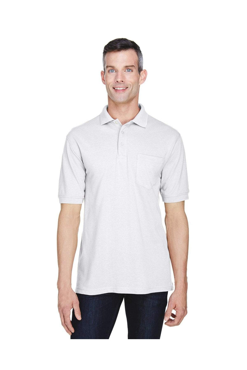 Harriton M265P: Men's 5.6 oz. Easy Blend(tm) Polo with Pocket-Polos-Bulkthreads.com, Wholesale T-Shirts and Tanks