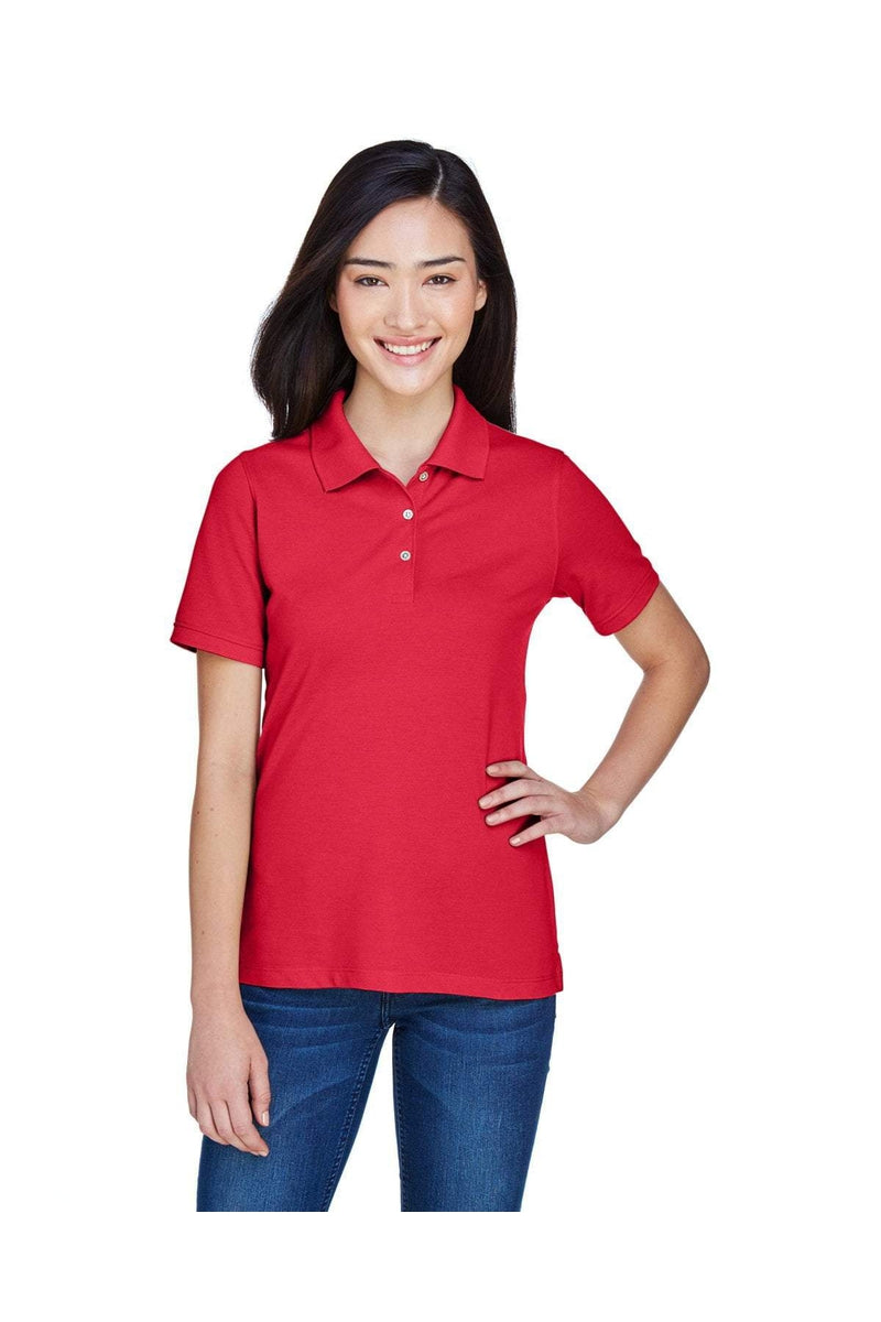 Harriton M265W: Ladies' 5.6 oz. Easy Blend(tm) Polo, Basic Colors