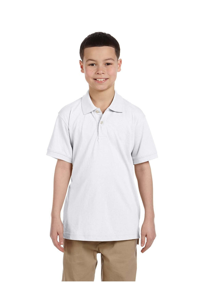 Harriton M265Y: Youth 5.6 oz. Easy Blend(tm) Polo-Polos-Bulkthreads.com, Wholesale T-Shirts and Tanks