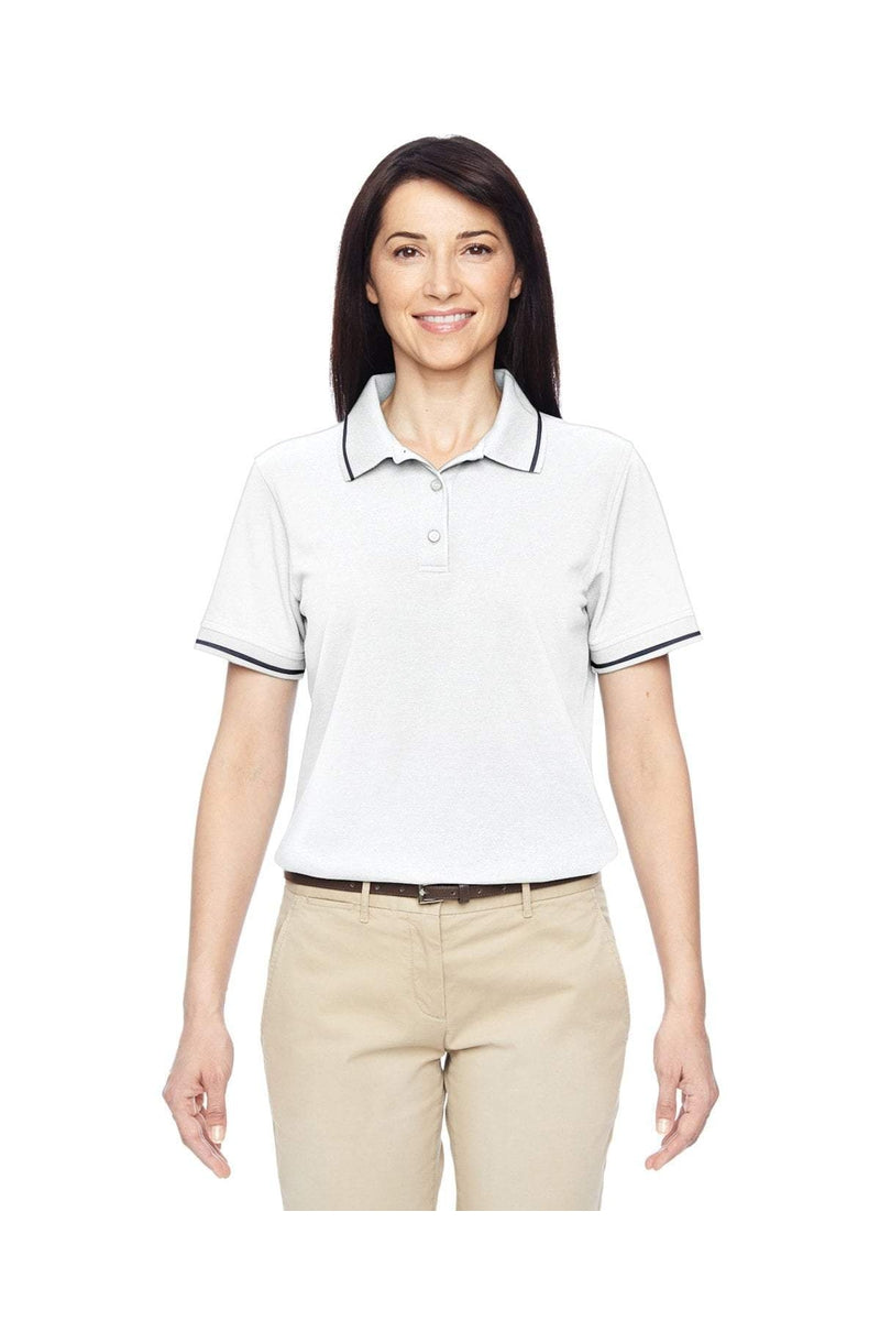 Harriton M270W: Ladies' 5.6 oz. Tipped Easy Blend(tm) Polo-Polos-Bulkthreads.com, Wholesale T-Shirts and Tanks