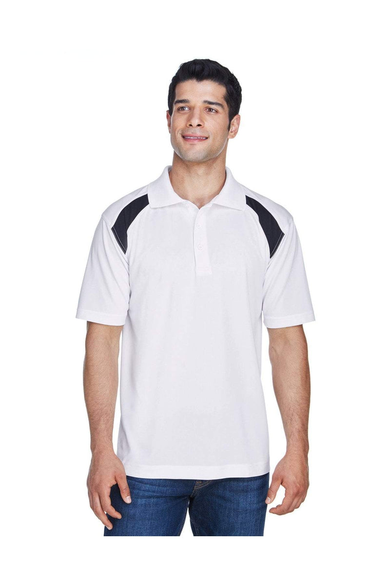 Harriton M318: Adult 4 oz. Polytech Colorblock Polo-Polos-Bulkthreads.com, Wholesale T-Shirts and Tanks