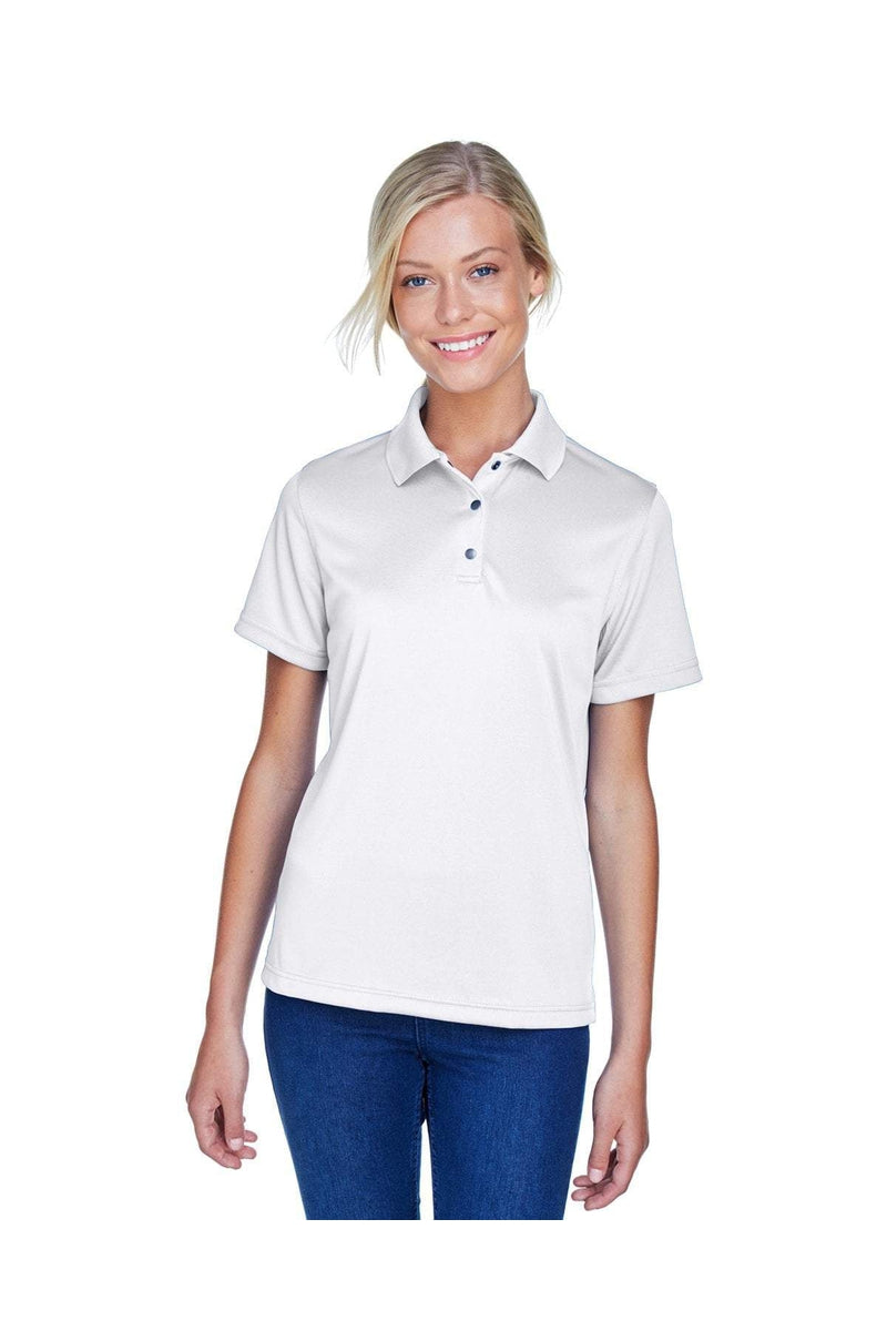 Harriton M345W: Ladies' Advantage IL Snap Placket Performance Polo-Polos-Bulkthreads.com, Wholesale T-Shirts and Tanks