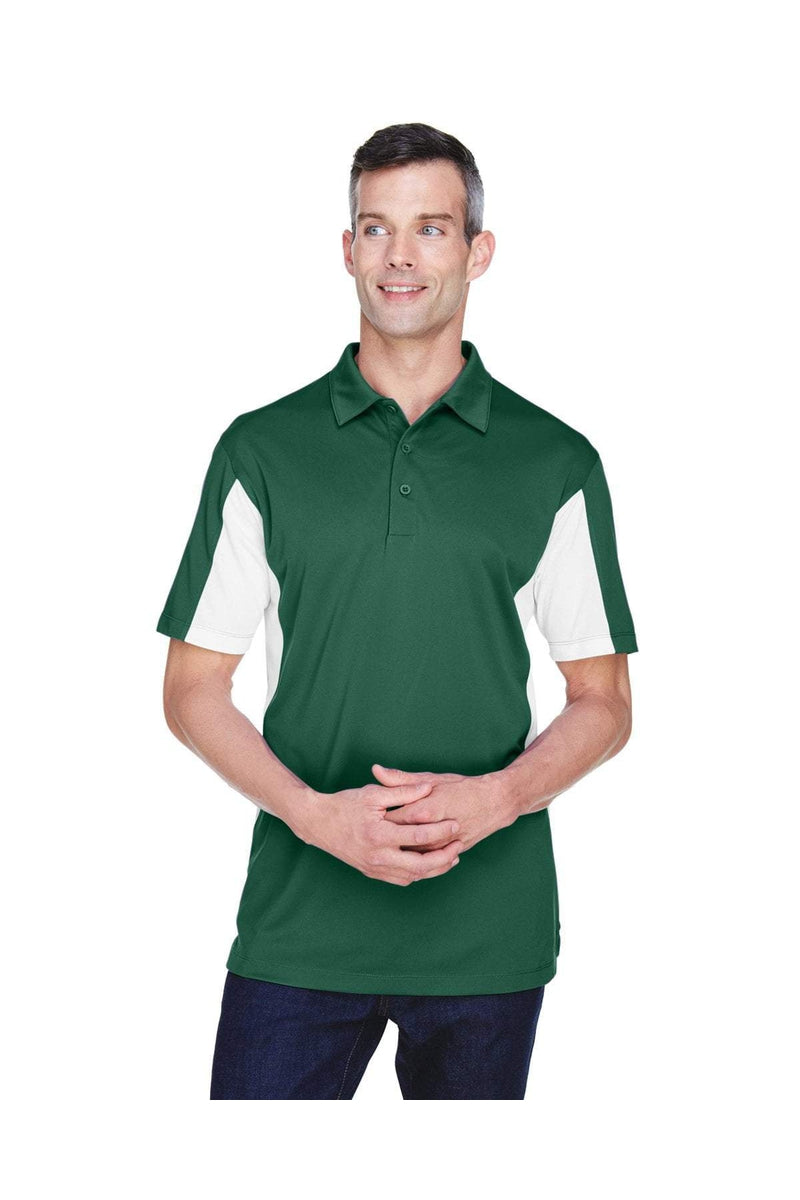 Harriton M355: Men's Side Blocked Micro-Pique Polo-Polos-Bulkthreads.com, Wholesale T-Shirts and Tanks