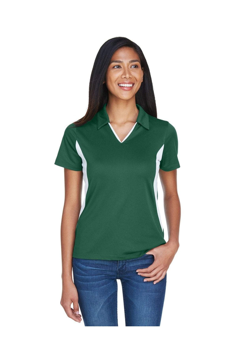 Harriton M355W: Ladies' Side Blocked Micro-Pique Polo-Polos-Bulkthreads.com, Wholesale T-Shirts and Tanks
