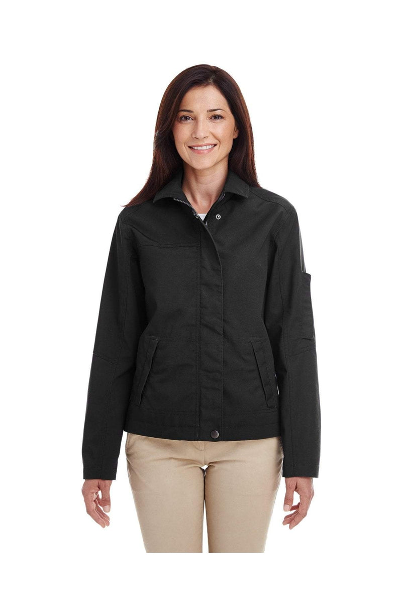 Harriton M705W: Ladies' Auxiliary Canvas Work Jacket-Outerwear-Bulkthreads.com, Wholesale T-Shirts and Tanks