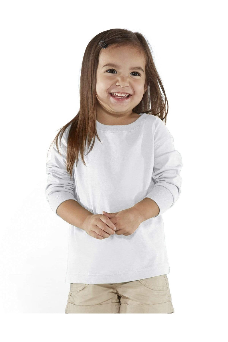 Rabbit Skins RS3302: Toddler Long-Sleeve Fine Jersey T-Shirt-Infants | Toddlers-Bulkthreads.com, Wholesale T-Shirts and Tanks