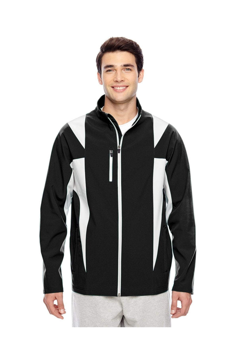 Team 365 TT82: Men's Icon Colorblock Soft Shell Jacket-Outerwear-Bulkthreads.com, Wholesale T-Shirts and Tanks