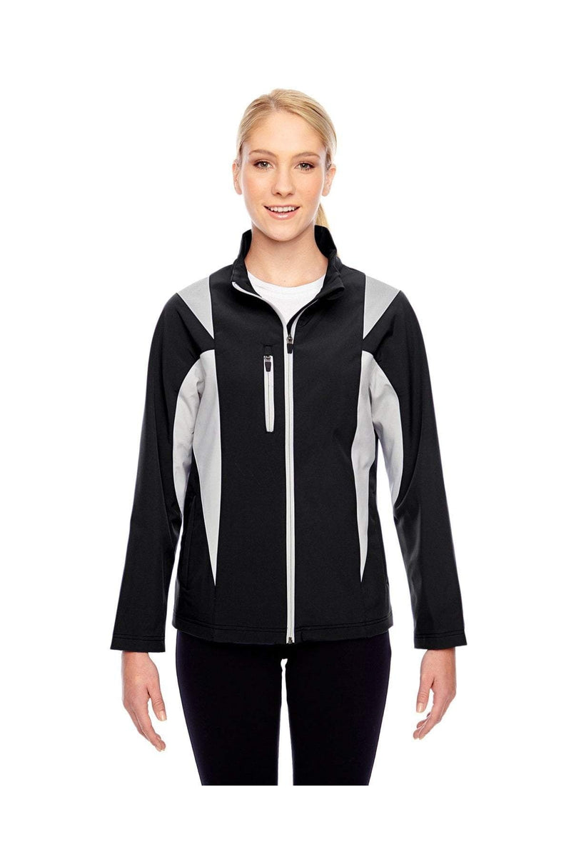 Team 365 TT82W: Ladies' Icon Colorblock Soft Shell Jacket-Outerwear-Bulkthreads.com, Wholesale T-Shirts and Tanks