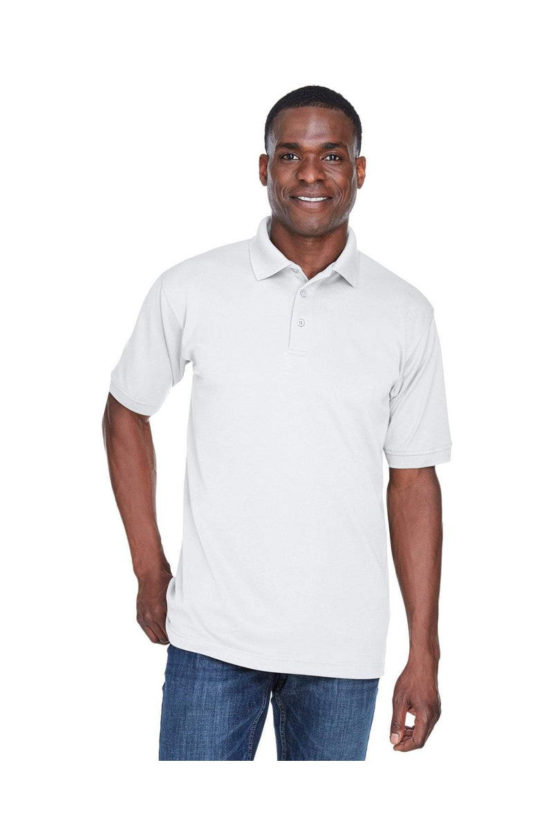 UltraClub U8315: Men's Platinum Performance Pique Polo with TempControl Technology-Polos-Bulkthreads.com, Wholesale T-Shirts and Tanks