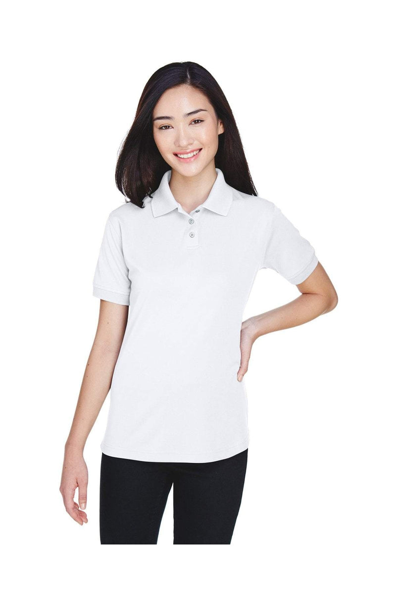 UltraClub U8315L: Ladies' Platinum Performance Pique Polo with TempControl Technology-Polos-Bulkthreads.com, Wholesale T-Shirts and Tanks
