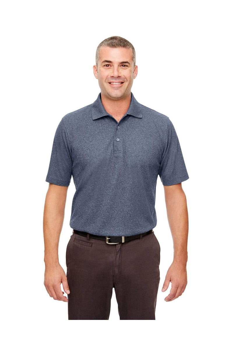 UltraClub UC100: Men's Heathered Pique Polo-Polos-Bulkthreads.com, Wholesale T-Shirts and Tanks