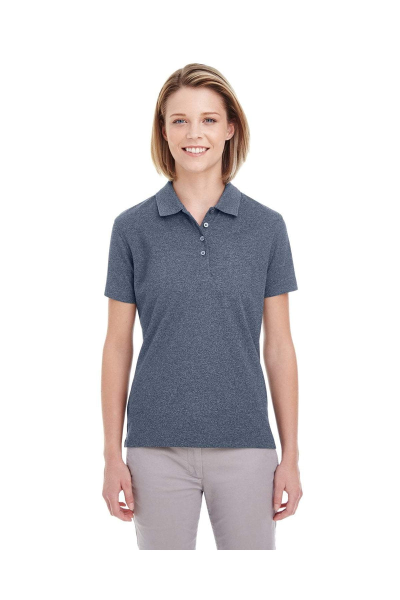 UltraClub UC100W: Ladies' Heathered Pique Polo-Polos-Bulkthreads.com, Wholesale T-Shirts and Tanks