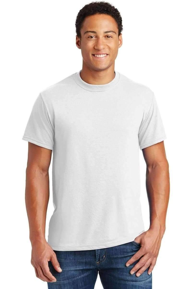 JERZEES 21M: Dri-Power Sport Active 100% Polyester Tee-T-Shirts-Jerzees-White-S-wholesale t shirts -Bulkthreads.com