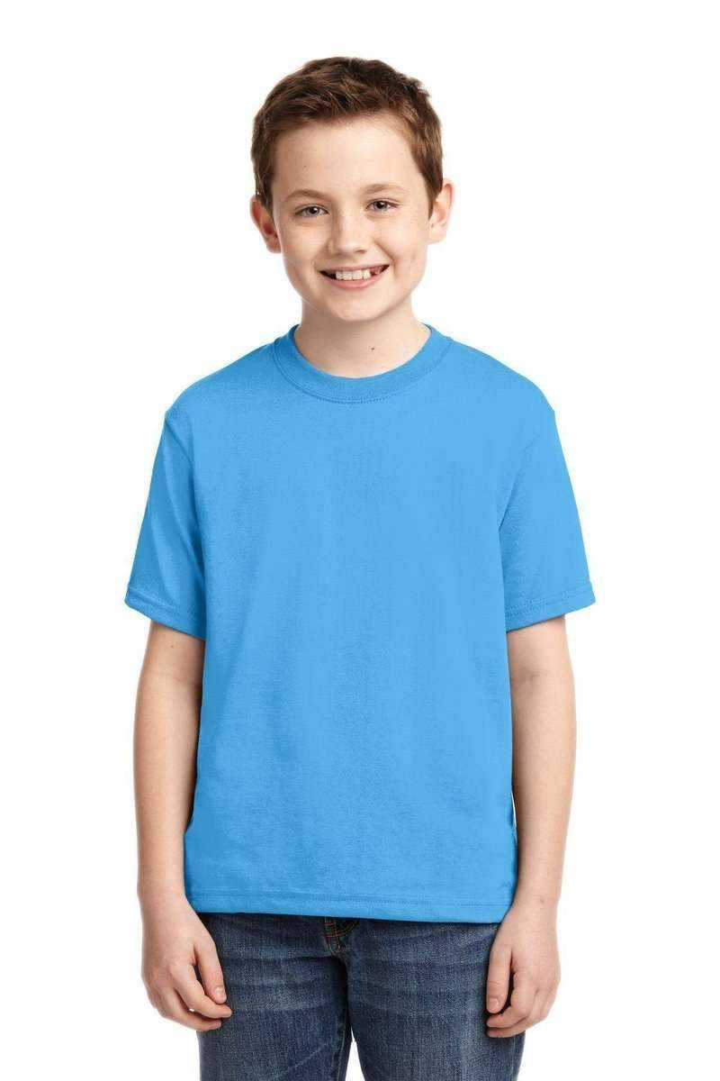 JERZEES 29B: Youth Wholesale Active T-Shirt 50/50 Cotton/Poly-T-Shirts-Jerzees-Aquatic Blue-XS-wholesale t shirts -Bulkthreads.com
