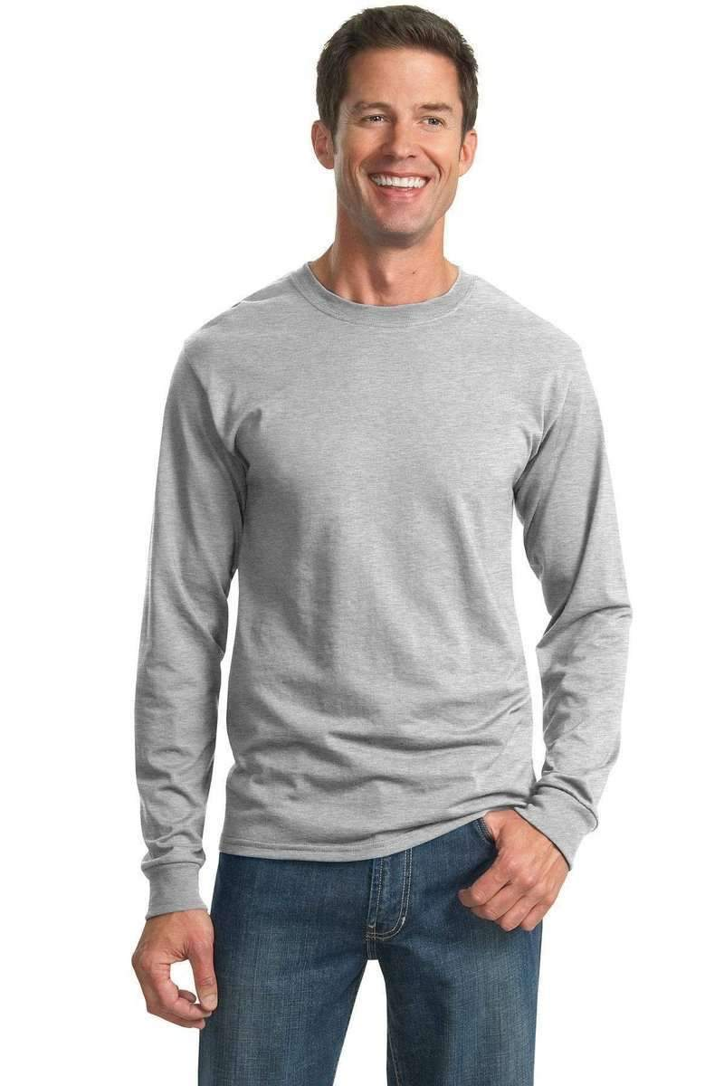 JERZEES 29L: Active 50/50 Cotton/Poly Long Sleeve Wholesale T Shirt.-T-Shirts-Jerzees-wholesale t shirts -Bulkthreads.com
