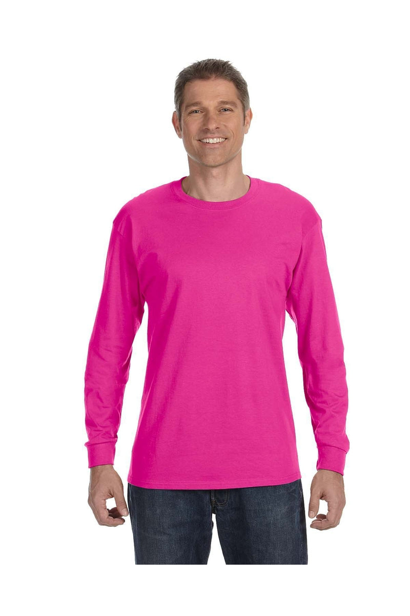 Jerzees 29L: Adult 5.6 oz. DRI-POWER® ACTIVE Long-Sleeve T-Shirt, Basic Colors-Jerzees-Bulkthreads.com