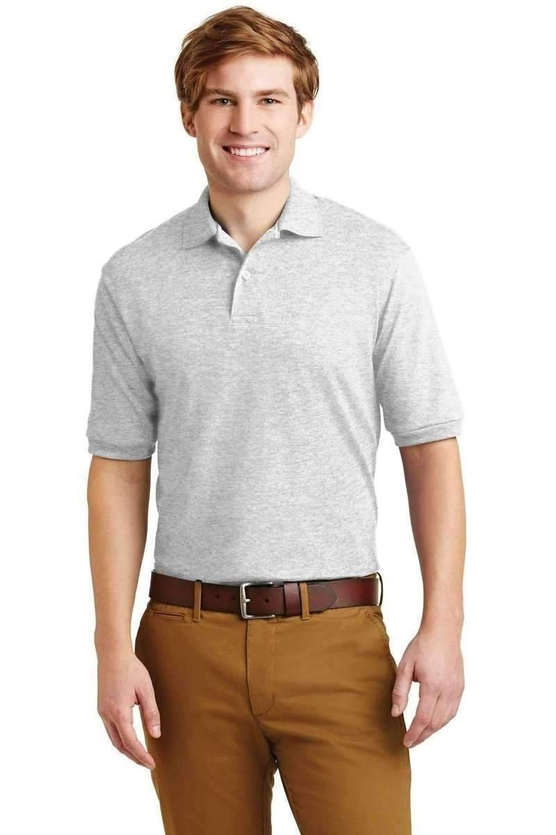 JERZEES 437: SpotShield Jersey Knit Sport Shirt-Polos/Knits-Jerzees-Ash-S-wholesale t shirts -Bulkthreads.com