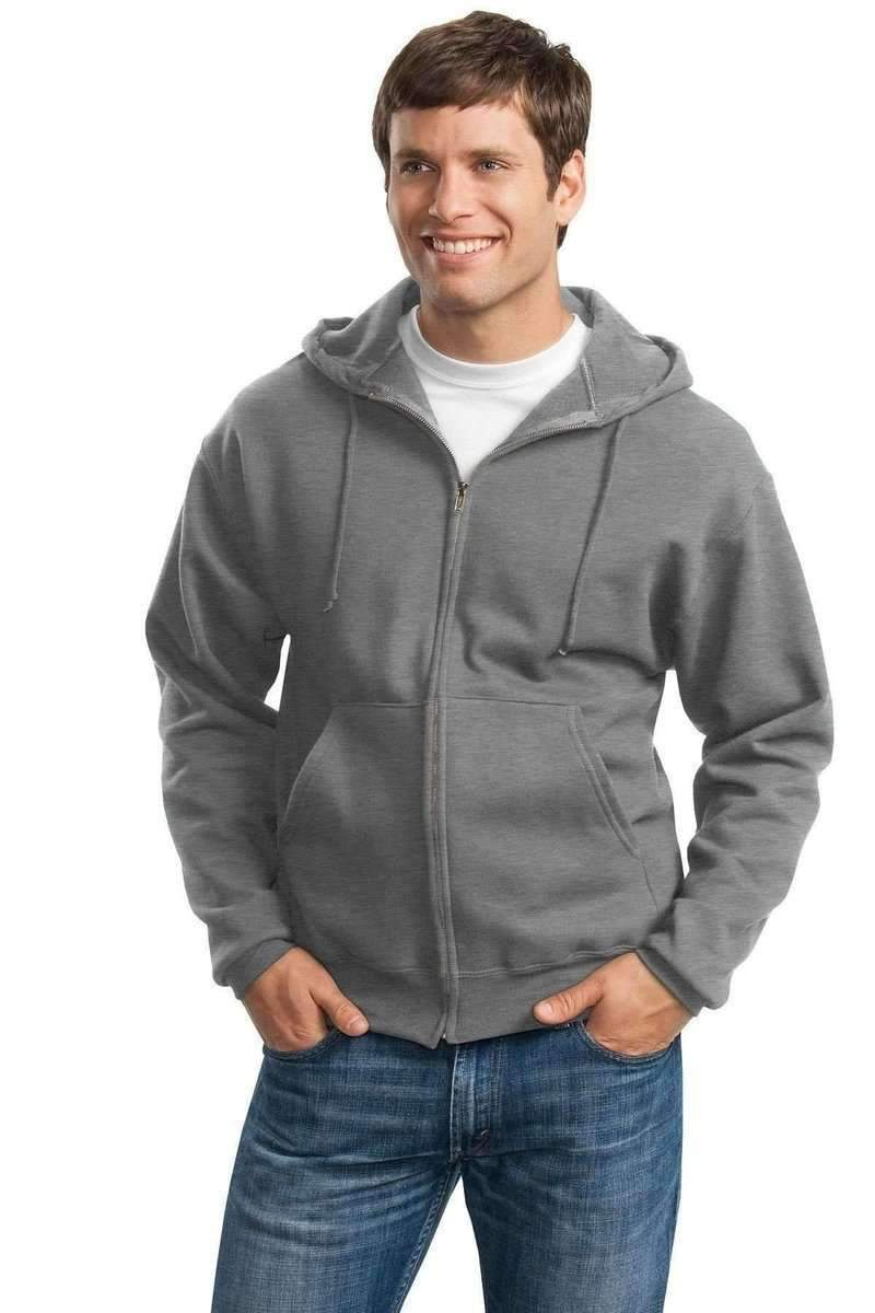 JERZEES 4999: Wholesale Full-Zip Hooded Sweatshirt-Sweatshirts/Fleece-Bulkthreads.com, Wholesale T-Shirts and Tanks