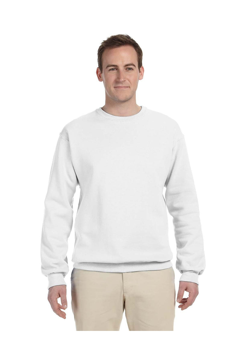 Jerzees 562: Adult 8 oz. NuBlend(r) Fleece Crew, Basic Colors-Sweatshirts-Bulkthreads.com, Wholesale T-Shirts and Tanks