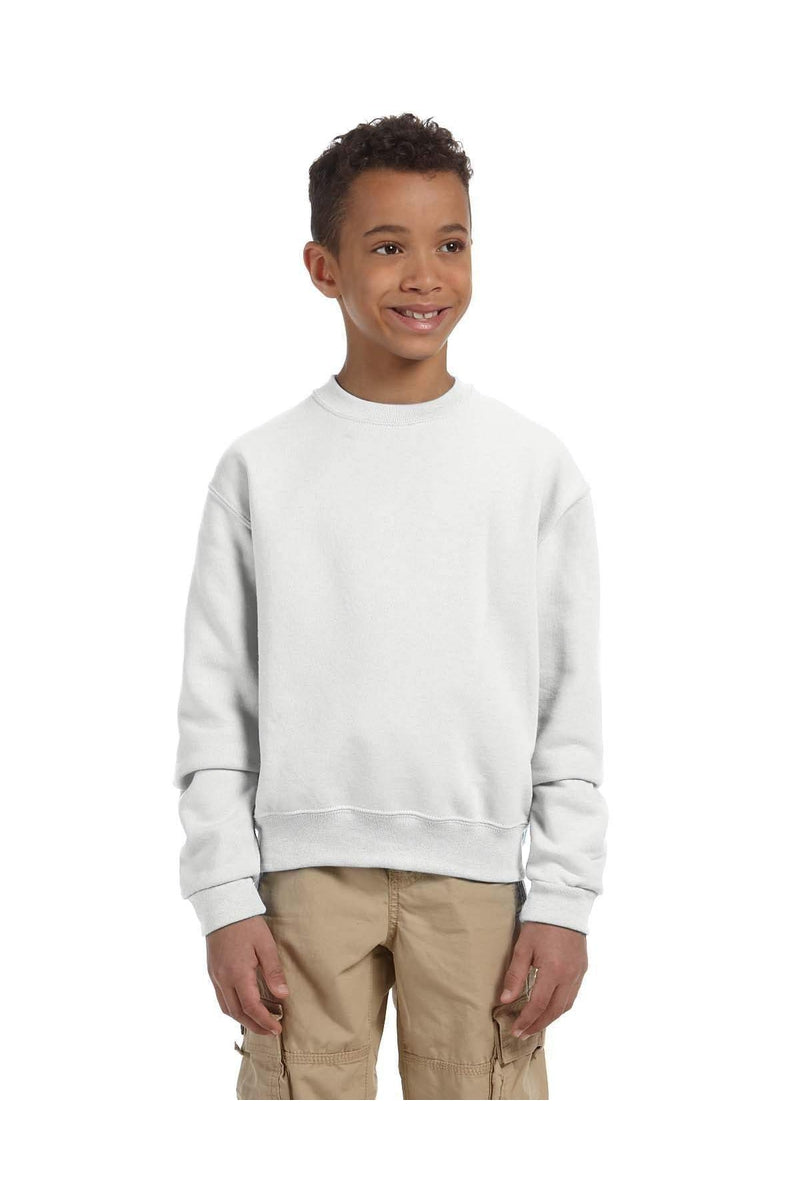 Jerzees 562B: Youth 8 oz. NuBlend(r) Fleece Crew-Sweatshirts-Bulkthreads.com, Wholesale T-Shirts and Tanks