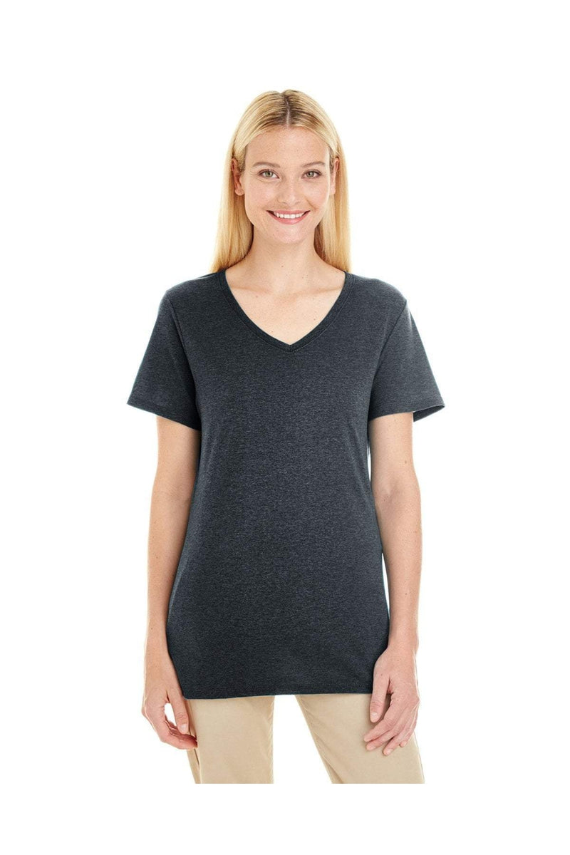 Jerzees 601WVR: Ladies' 4.5 oz. TRI-BLEND V-Neck T-Shirt-T-Shirts-Bulkthreads.com, Wholesale T-Shirts and Tanks